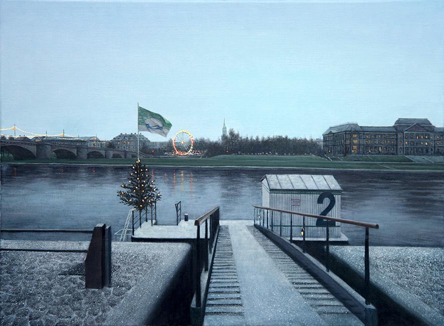 christmas at Boat house of die Elbe