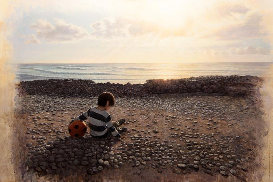 Tenerife 夕日とオレンジボール